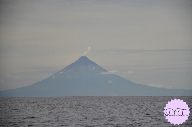 Mt. Mayon could be seen from our boat.