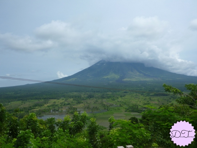 Mt. Mayon hidden in the clouds